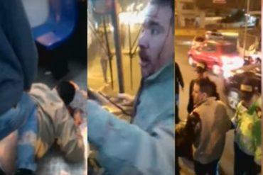 "¿XENOFOBIA? Le cayeron a golpes a un venezolano en Perú por supuestamente ""atacar a pedradas"" a un chofer de autobús (+Video)"