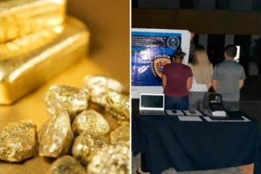 ¡VEA! Detienen a tres personas por tráfico de oro en el estado Bolívar