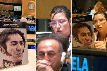 ¡SEPA! El libro que leía esta delegada de Maduro en la ONU mientras Trump se refería al desastre del chavismo en Venezuela (+Fotos)