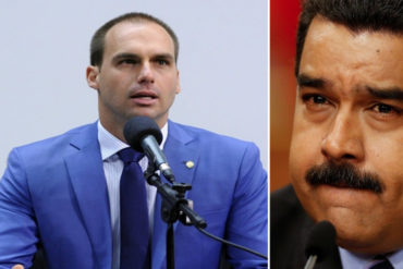 "¡ASÍ LO DIJO! Eduardo Bolsonaro propone cancelar visas a diplomáticos chavistas: Se ""irritó"" por presencia de expresidente de Cadivi"