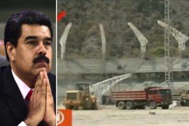 ¡SÍ, CLARO! Maduro prometió que el nuevo estadio de Tiburones de La Guaira se inaugurará en diciembre (+Video)