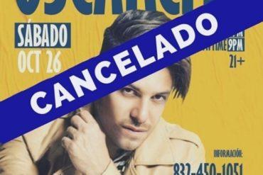 ¡AY, CHAMO! La polémica razón por la que cancelaron presentación de Oscarcito en Texas (+Reacciones)