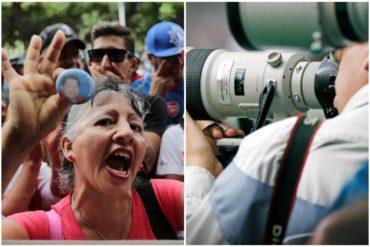 ¡EL HOMBRE NUEVO! El SNTP denuncia que seguidores de Maduro robaron el teléfono de reportero gráfico de El Pitazo