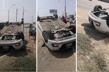 ¡GRAVE! Venezolana estuvo a punto de provocar una tragedia por conducir a exceso de velocidad en Perú