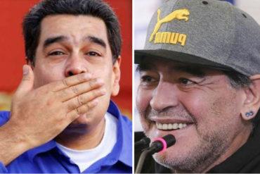 ¡EL QUE FALTABA, PUES! Maradona llegará a Venezuela este lunes para darle «apoyo político» a Maduro