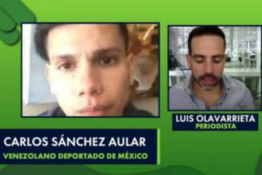 """¡ATERRADOR! """"Querían desaparecerme"""": El dramático testimonio de un venezolano deportado de México (fue torturado junto a otros 70 ciudadanos) (+Video)"""