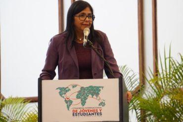"""¡NO SE AGUANTÓ! La picada respuesta de Delcy Rodríguez sobre reunión del TIAR: """"Montaron un circo"""""""