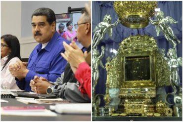 """¡EL MÁS DEVOTO! Maduro y su sincretismo religioso: Ahora dice que """"La Chinita"""" le salvó la vida durante el ataque del dron"""