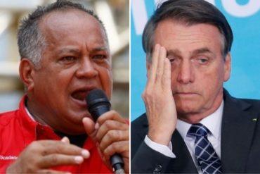 """¡SOLTÓ VENENO! """"Le vamos a responder en reciprocidad"""": Diosdado amenaza a Bolsonaro si decide expulsar a funcionarios de la embajada venezolana en Brasil"""