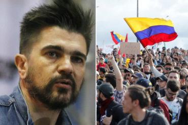 """¡LE CONTAMOS! Lo que dijo Juanes sobre las protestas en Colombia: """"No creo que un gobernante se haga el sordo cuando le piden que escuche"""""""