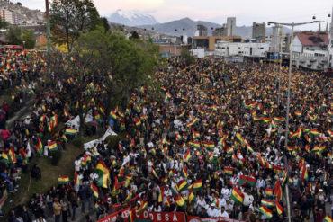 """¡LO ÚLTIMO! Opositores bolivianos anuncian paro y cierre de fronteras para que renuncie Morales: """"Se nos agotó la paciencia"""""""