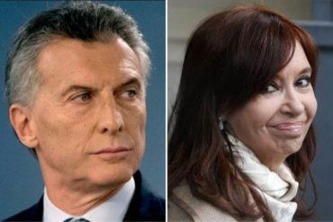 ¡QUÉ DESCARO! La cara de Cristina Fernández de Kirchner cuando le dio la mano en saludo a Mauricio Macri  (+Video)