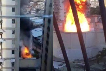 ¡SE LO MOSTRAMOS! Reportan incendio en subestación de Los Ruices este #19Dic (+Videos)