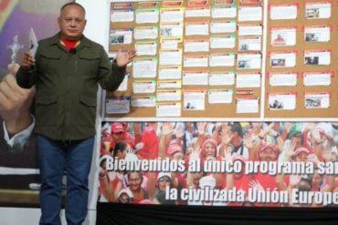 """¡DESAFIANTE! """"Lo que es igual no es trampa»: la advertencia de Diosdado tras anuncio de reestructuración de Telesur"""