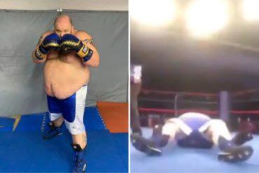 ¡INCREÍBLE! El brutal nocaut que sufrió un boxeador de 180 kilos en su debut como profesional (+Video de impacto)
