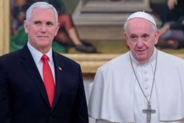 ¡SE LO CONTAMOS! Pence abordó con el Papa Francisco la crisis en Venezuela este #24Ene
