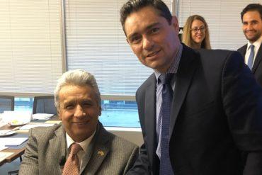 ¡SEPA! Vechhio agradeció a Lenín Moreno su respaldo a la causa venezolana