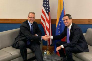¡VEA! Juan Guaidó se reunió con el encargado de negocios de EEUU para Venezuela tras llegar a Miami
