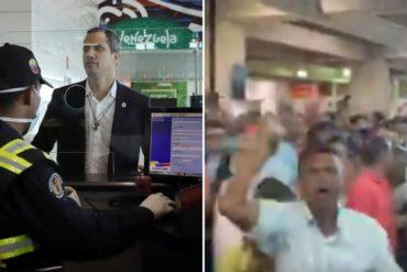 """¡RESTEADOS! """"Hay un guerrero"""": así esperaron los venezolanos a Juan Guaidó en el aeropuerto internacional de Maiquetía (+Video)"""