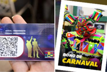 ¡SEPA! Régimen comenzó entrega del Bono de Carnaval en la plataforma Patria (+El triste monto)