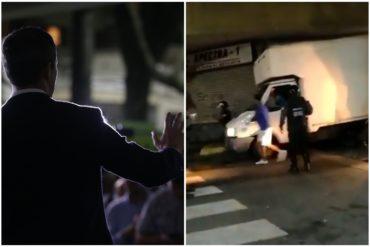 ¿HASTA CUÁNDO? Detenidos colaboradores de la producción del evento de Guaidó en la Plaza Bolívar de Chacao (+Video)