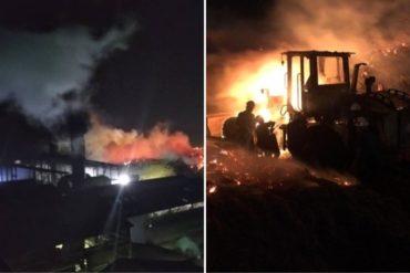¡GRAVE! Reportaron incendio de gran magnitud en alrededores de Central Azucarero en Portuguesa este #14Mar (+Fotos)
