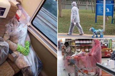 ¡QUÉ EXTREMOS! Los distintos tipos de mascarillas que abundan en China para protegerse del coronavirus