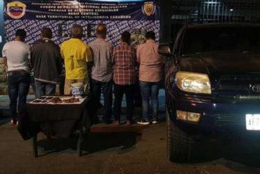 ¡LE CONTAMOS! La peligrosa sustancia que incautaron las FAES a seis sujetos en Carabobo (+Foto)