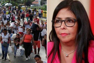 ¿DE VERDAD? La absurda explicación de Delcy Rodríguez sobre el retorno de algunos migrantes: «Regresan porque aquí la salud es gratuita»