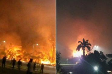 ¡GRAVE! Se registró un fuerte incendio en el parque nacional José Tadeo Arreaza en Anzoátegui (+Fotos +Videos)