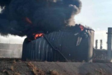 ¡ÚLTIMA HORA! Reportan explosión en un tanque de almacenamiento en Petropiar (+Video)