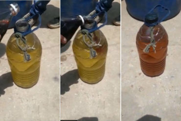 """¡ATENCIÓN! Denuncian la presunta venta clandestina de una """"mezcla"""" de agua con gasolina """"para engañar a los ciudadanos"""" (+Video)"""