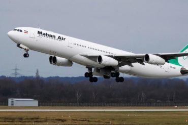 ¡ATENCIÓN! Régimen habría otorgado permiso especial a Mahan Air para cumplir operaciones aéreas en plena cuarentena (Van 6 vuelos en 7 días)
