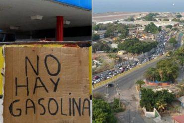 ¡INSÓLITO! La cola infinita que se formó en una estación de gasolina en la entrada hacia Catia La Mar este #26May (+Foto)