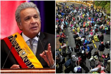 """¡SIN RODEOS! Lenín Moreno expresó preocupación por los migrantes venezolanos: """"La única solución es que el déspota de Maduro salga del poder"""" (+Video)"""