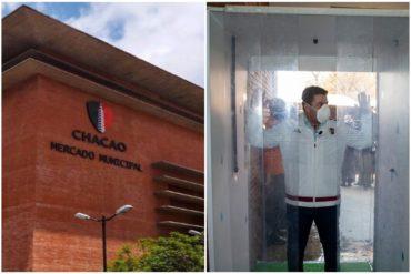 ¡VEA! Así es la cápsula de desinfección instalada en el Mercado de Chacao por el covid-19 (+Fotos)