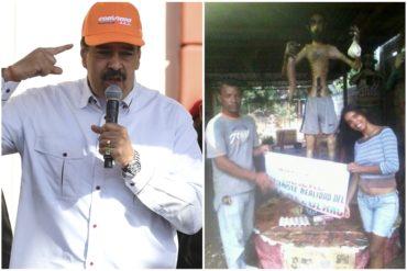 ¡MÍRALO, NICOLÁS! Este es el muñeco del hambre, una escultura que refleja la miseria generada por el régimen de Maduro