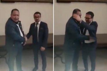 ¡SE LO MOSTRAMOS! José Brito se reía de lo lindo con Lacava mientras el TSJ preparaba su decisión contra Primero Justicia (+Video)