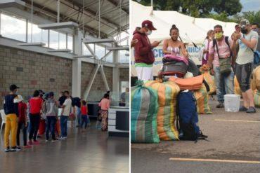 ¡AL FIN! Trasladaron hacia el puente Simón Bolívar al primer grupo de venezolanos que estaba en Tienditas (tenían días a la intemperie en Cúcuta)