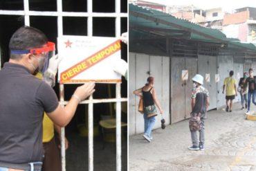 ¡ATENTOS! Cerrado temporalmente el Mercado de Carapita (Antímano) por brote de COVID-19: Detectaron 5 casos positivos