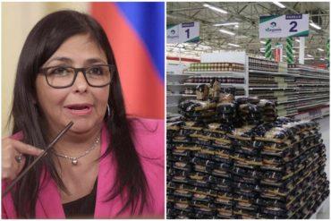 """¡PARA ELLOS NO HAY LEY! Delcy se olvidó de la """"cuarentena radical"""" y autorizó al supermercado iraní en Caracas extender horario para la venta al público"""