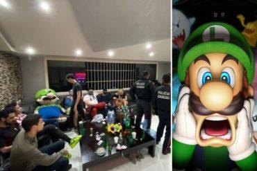 ¡CON LAS MANOS EN LA MASA! Detenidos 22 jóvenes en Chacao por participar en una coronaparty: Entre ellos se encontraba el famoso Luigi de Nintendo (+Fotos)