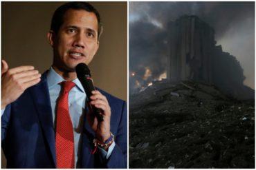 ¡LE CONTAMOS! Gobierno de Guaidó envía condolencias al pueblo libanés por tragedia en Beirut