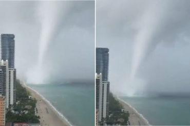 ¡TERRIBLE! Increíble tromba marina se adentró en tierra como tornado y causó destrozos en Florida este #19Ago (+Videos)