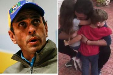 ¡NO LO PERDONARON! Capriles difunde el reencuentro de Juan Requesens con sus hijos pero desató la polémica en redes (+Video +Reacciones)