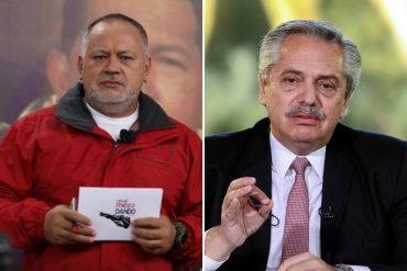 """¿QUÉ TAL? """"Tibio no, frío"""": Diosdado Cabello arremete contra Alberto Fernández por su posición sobre la llamada """"revolución"""""""