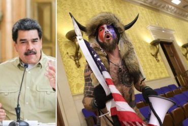"""¡NO SE AGUANTÓ! """"Apareció Batman, apareció un hombre vestido de bisonte"""": los comentarios de Maduro sobre los hechos violentos en el Capitolio de EEUU"""