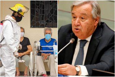 """¡LO SOLTÓ! António Guterres criticó falta de solidaridad tras 2 millones de muertos por covid-19 en el mundo: """"Un hito desgarrador"""""""