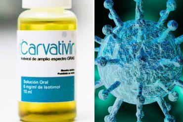 ¡SE LO TRAEMOS! Los ocho supuestos efectos de las gotas Carvativir contra el COVID-19 según su «investigador principal» (+Lista)