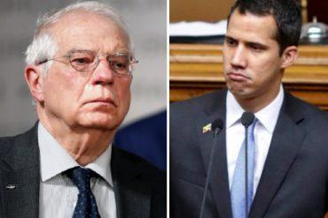 ¡ENTÉRESE! Borrell aclara ante la Eurocámara que la Unión Europea nunca se refirió a Guaidó como presidente encargado de Venezuela (+Video)
